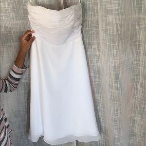 A sparkling white dress